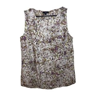GAP sleeveless scoop neck floral top  A15